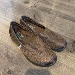 BOBS by Skechers Brown Slip On Shoes Ladies Size 8